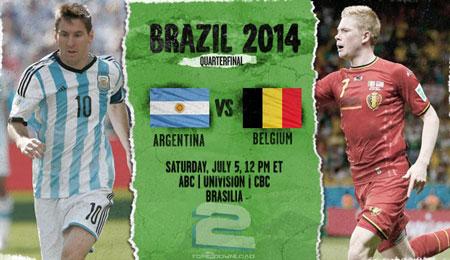 Argentina vs Belgium World Cup 2014 | تاپ 2 دانلود