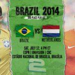 دانلود بازی برزیل و هلند Brazil vs Netherlands World Cup 2014