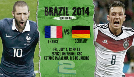 France vs Germany World Cup 2014 | تاپ 2 دانلود
