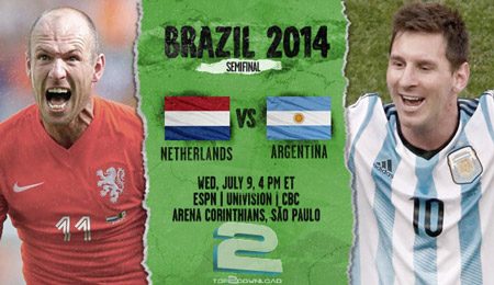 Netherlands vs Argentina World Cup 2014 | تاپ 2 دانلود